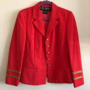 Escada Margaretha Ley Vintage Red coat